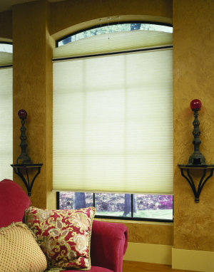 EcoSmart Insulating Shades are attractive in any room such as this living room