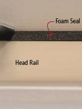 foam seal on top