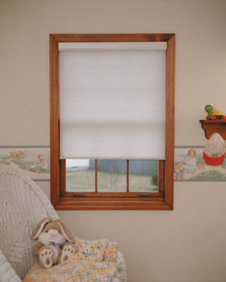 Cordless shades are safe for nurseries and children's rooms