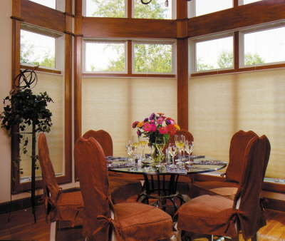 Top Down bottom up shades give privacy and allow light when lowered from the top.