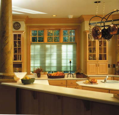 Clean, efficient window shades perfect for kitchens.