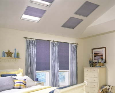 Skylight Shades coordinate with regular window shades
